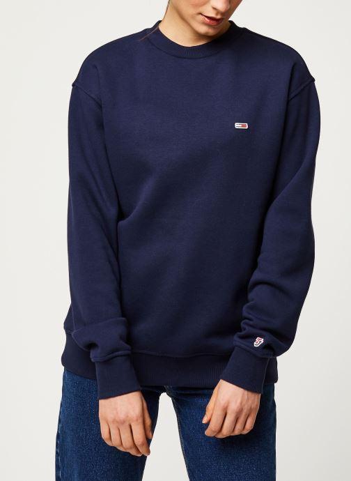 Vêtements Tommy Jeans TWJ Tommy Classics Sweatshirt Bleu vue droite