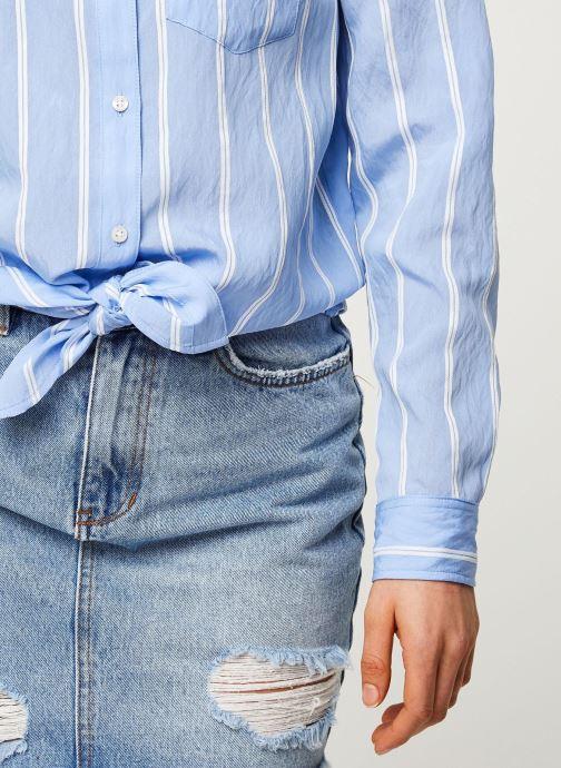 Vêtements Tommy Jeans TWJ Front Knot Shirt Bleu vue face