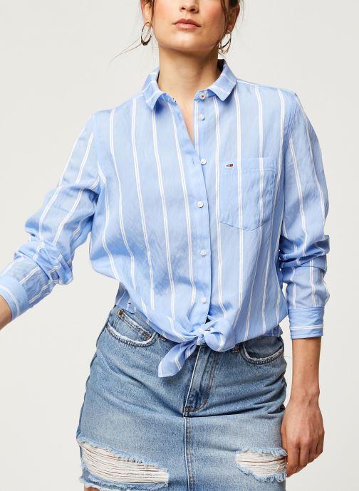Vêtements Tommy Jeans TWJ Front Knot Shirt Bleu vue détail/paire