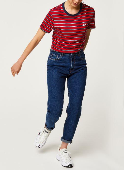 Vêtements Tommy Jeans TWJ Tommy Classics Stripe Tee Rouge vue bas / vue portée sac