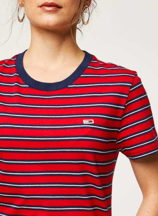 Vêtements Tommy Jeans TWJ Tommy Classics Stripe Tee Rouge vue face