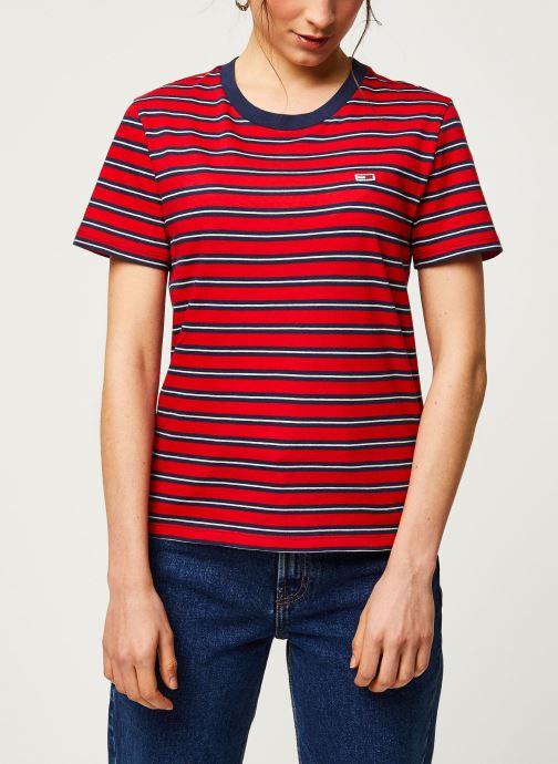 Vêtements Tommy Jeans TWJ Tommy Classics Stripe Tee Rouge vue droite