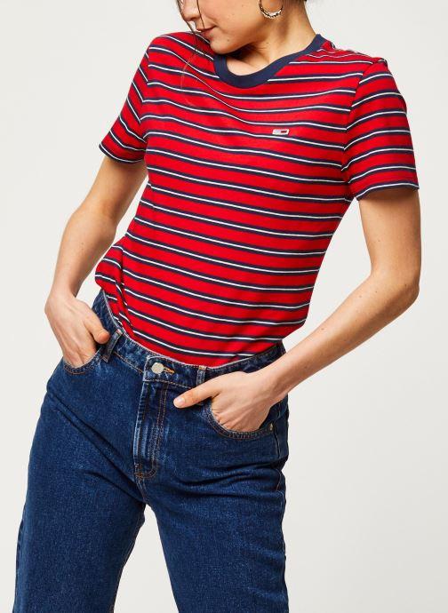 Vêtements Tommy Jeans TWJ Tommy Classics Stripe Tee Rouge vue détail/paire