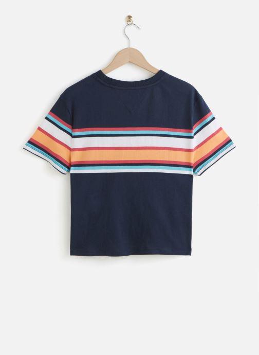 Vêtements Tommy Jeans TWJ Stripe Logo Tee Bleu vue bas / vue portée sac