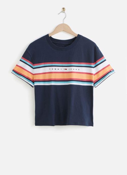 Vêtements Tommy Jeans TWJ Stripe Logo Tee Bleu vue détail/paire
