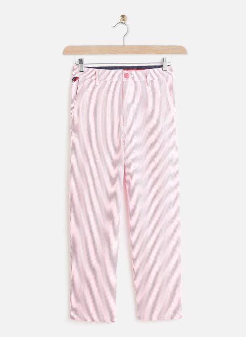 Kleding Tommy Jeans TWJ Stripe High Rise Straight Rood detail