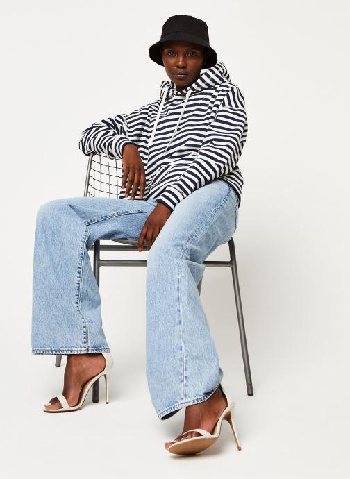 Vêtements Tommy Jeans TWJ Stripe Hoodie Bleu vue bas / vue portée sac