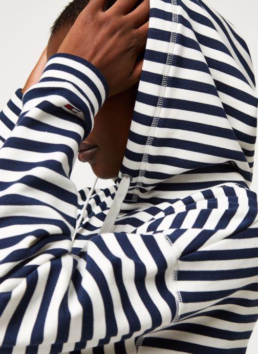 Vêtements Tommy Jeans TWJ Stripe Hoodie Bleu vue face