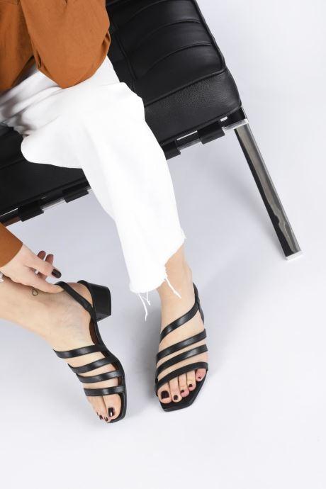 Sandales et nu-pieds Nat & Nin HALLEY Noir vue bas / vue portée sac