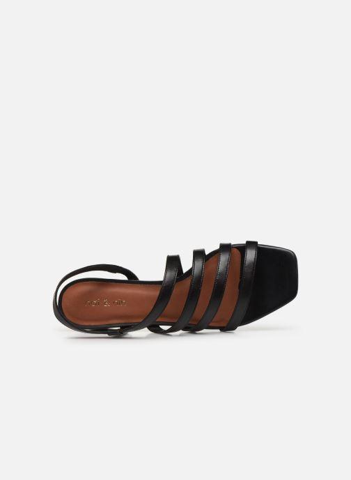 Sandales et nu-pieds Nat & Nin HALLEY Noir vue gauche