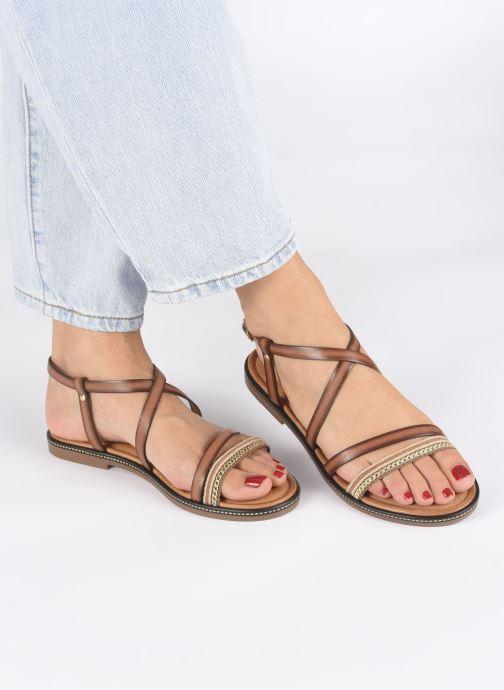 Sandales et nu-pieds Les Tropéziennes par M Belarbi HARRY Or et bronze vue bas / vue portée sac