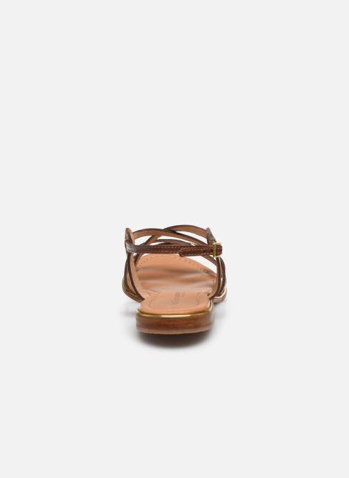 Sandalias Les Tropéziennes par M Belarbi HARRY Oro y bronce vista lateral derecha