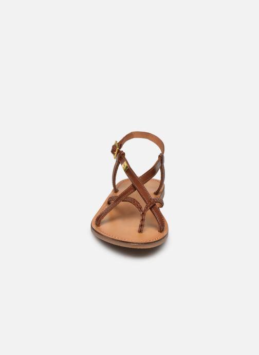 Sandales et nu-pieds Les Tropéziennes par M Belarbi CHOU Marron vue portées chaussures