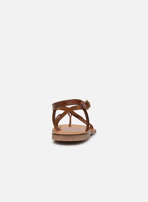 Sandales et nu-pieds Les Tropéziennes par M Belarbi CHOU Marron vue droite
