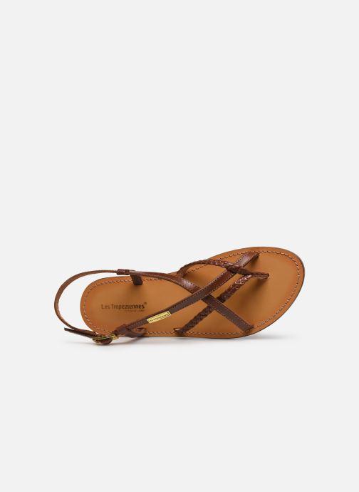 Sandales et nu-pieds Les Tropéziennes par M Belarbi CHOU Marron vue gauche