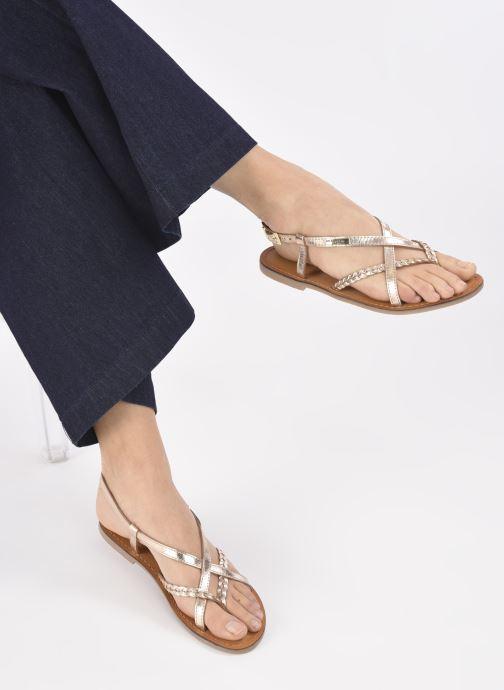 Sandalen Les Tropéziennes par M Belarbi CHOU gold/bronze ansicht von unten / tasche getragen