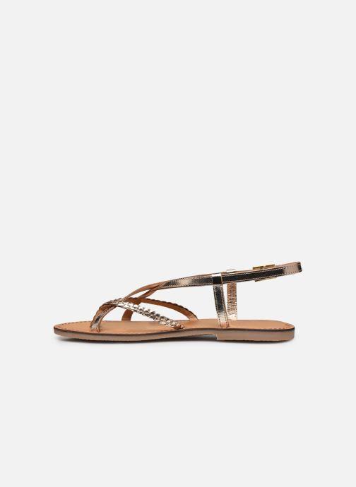 Sandales et nu-pieds Les Tropéziennes par M Belarbi CHOU Or et bronze vue face