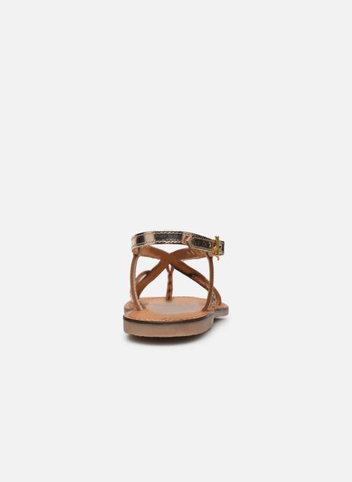 Sandales et nu-pieds Les Tropéziennes par M Belarbi CHOU Or et bronze vue droite
