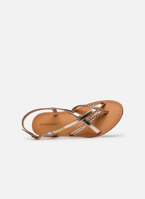 Sandales et nu-pieds Les Tropéziennes par M Belarbi CHOU Or et bronze vue gauche