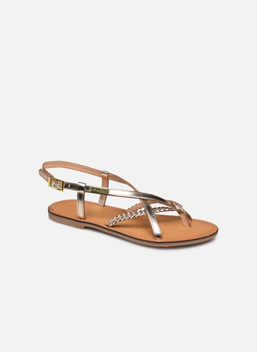 Sandales et nu-pieds Les Tropéziennes par M Belarbi CHOU Or et bronze vue détail/paire