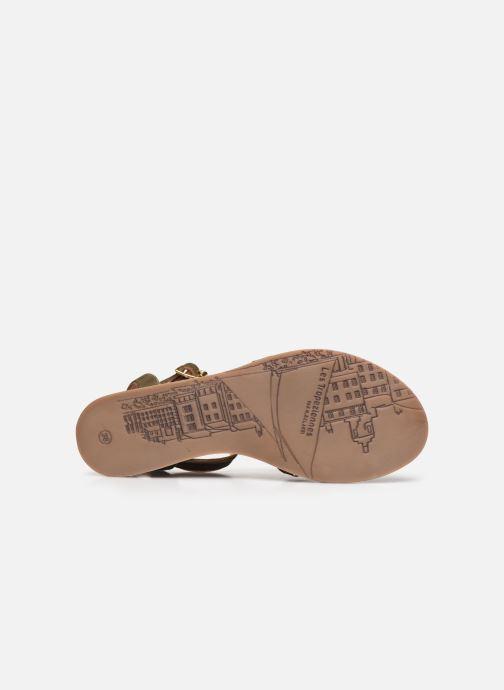 Sandales et nu-pieds Les Tropéziennes par M Belarbi HAMUC Vert vue haut