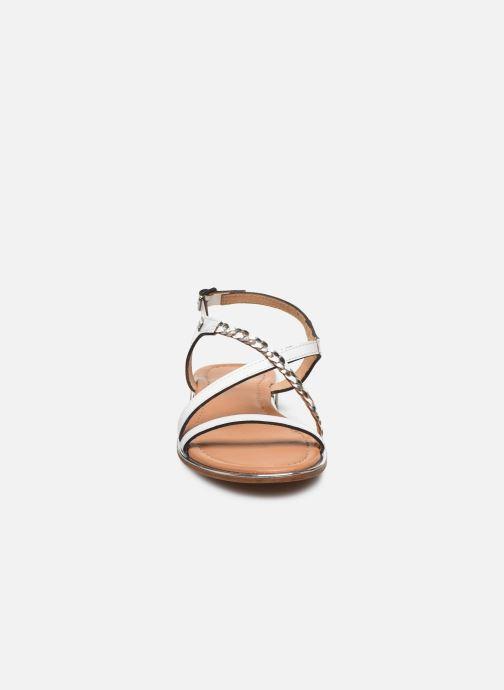 Sandales et nu-pieds Les Tropéziennes par M Belarbi HORSOU Blanc vue portées chaussures