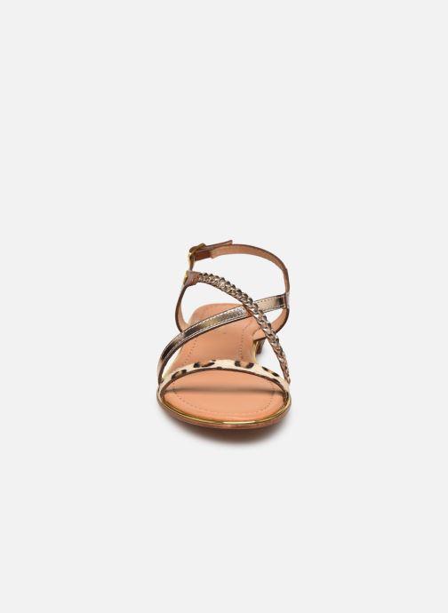 Sandales et nu-pieds Les Tropéziennes par M Belarbi HORSOU Or et bronze vue portées chaussures