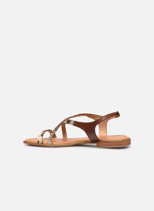 Sandales et nu-pieds Les Tropéziennes par M Belarbi HORSOU Or et bronze vue face