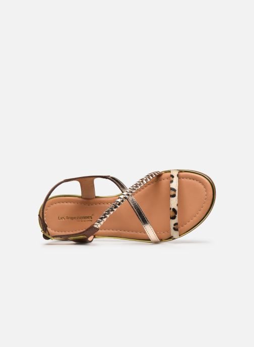 Sandales et nu-pieds Les Tropéziennes par M Belarbi HORSOU Or et bronze vue gauche