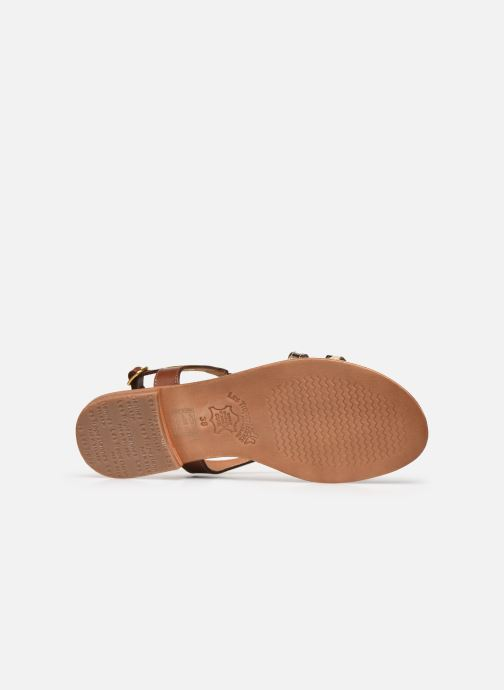 Sandales et nu-pieds Les Tropéziennes par M Belarbi HORSOU Or et bronze vue haut