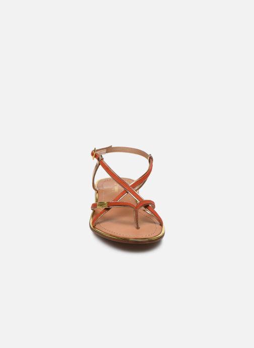 Sandalias Les Tropéziennes par M Belarbi MONAGOLD Naranja vista del modelo