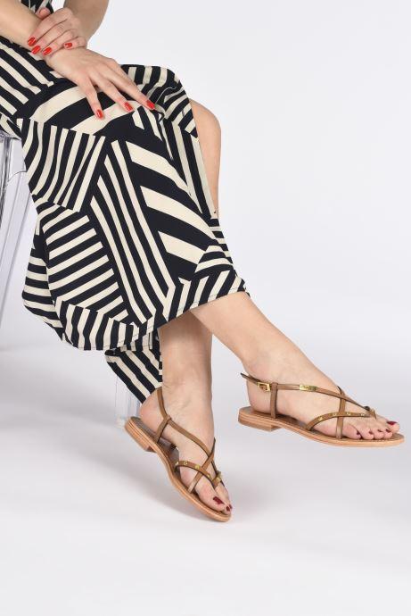 Sandales et nu-pieds Les Tropéziennes par M Belarbi MONACLOU Beige vue bas / vue portée sac