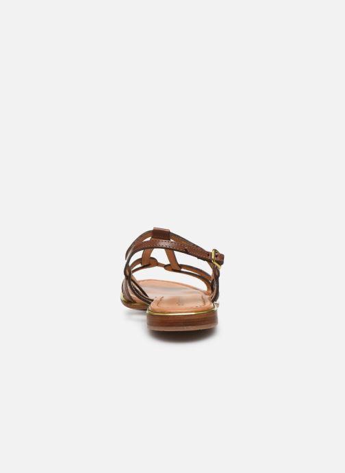 Sandales et nu-pieds Les Tropéziennes par M Belarbi HACKLE Marron vue droite
