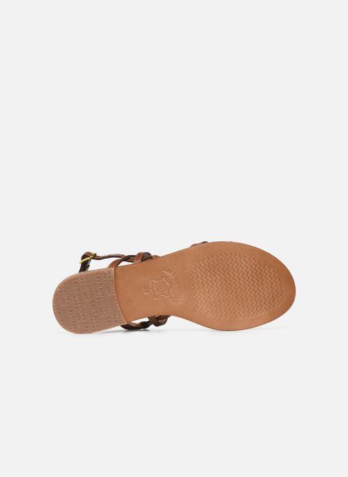 Sandales et nu-pieds Les Tropéziennes par M Belarbi HACKLE Marron vue haut
