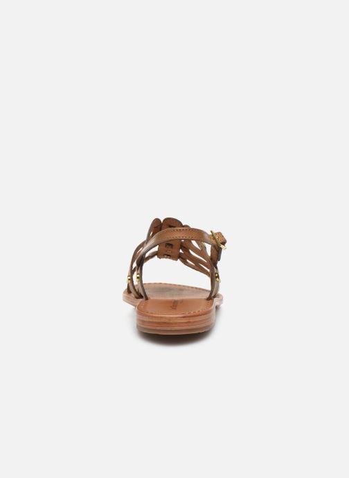 Sandalias Les Tropéziennes par M Belarbi HAMPI Beige vista lateral derecha