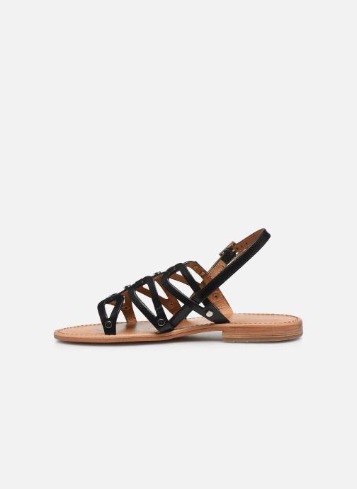 Sandales et nu-pieds Les Tropéziennes par M Belarbi HAMPI Noir vue face