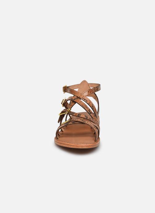Sandales et nu-pieds Les Tropéziennes par M Belarbi BOUCLE Marron vue portées chaussures