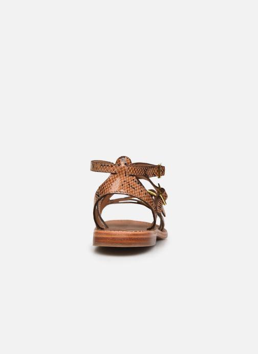 Sandales et nu-pieds Les Tropéziennes par M Belarbi BOUCLE Marron vue droite