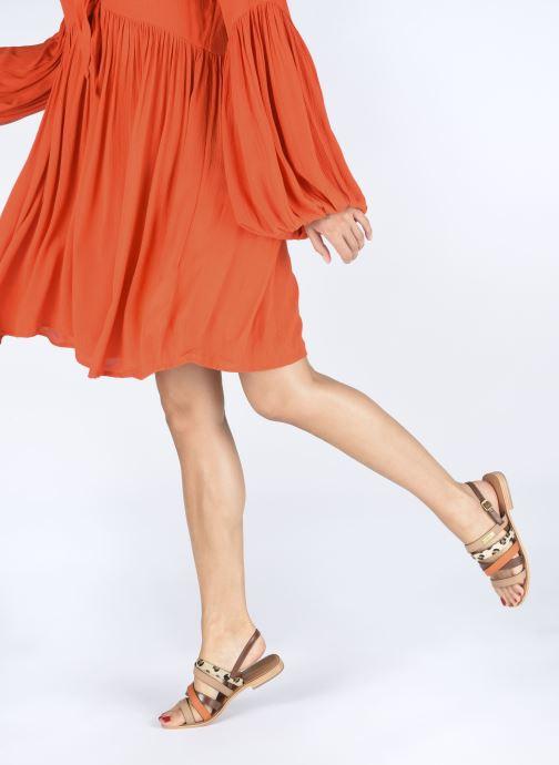 Sandales et nu-pieds Les Tropéziennes par M Belarbi HOP Orange vue bas / vue portée sac