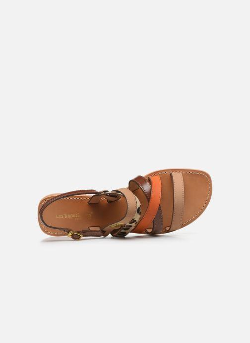 Sandales et nu-pieds Les Tropéziennes par M Belarbi HOP Orange vue gauche
