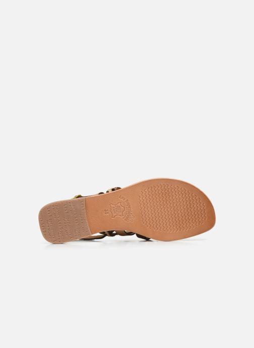 Sandales et nu-pieds Les Tropéziennes par M Belarbi HOP Orange vue haut