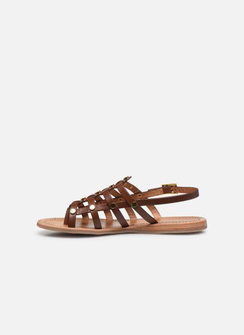 Sandales et nu-pieds Les Tropéziennes par M Belarbi HAKEA F Marron vue face