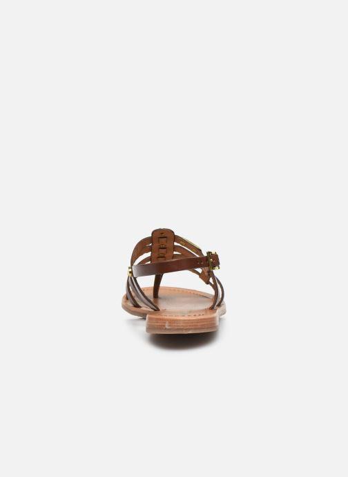 Sandales et nu-pieds Les Tropéziennes par M Belarbi HAKEA F Marron vue droite