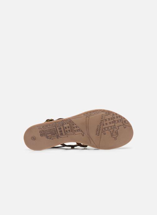 Sandales et nu-pieds Les Tropéziennes par M Belarbi HAKEA F Marron vue haut
