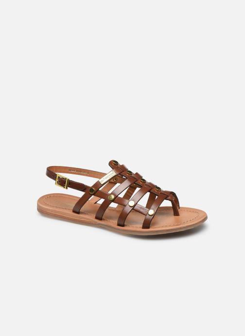 Sandales et nu-pieds Les Tropéziennes par M Belarbi HAKEA F Marron vue détail/paire