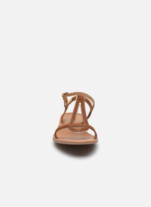 Sandales et nu-pieds Les Tropéziennes par M Belarbi HABUC Marron vue portées chaussures