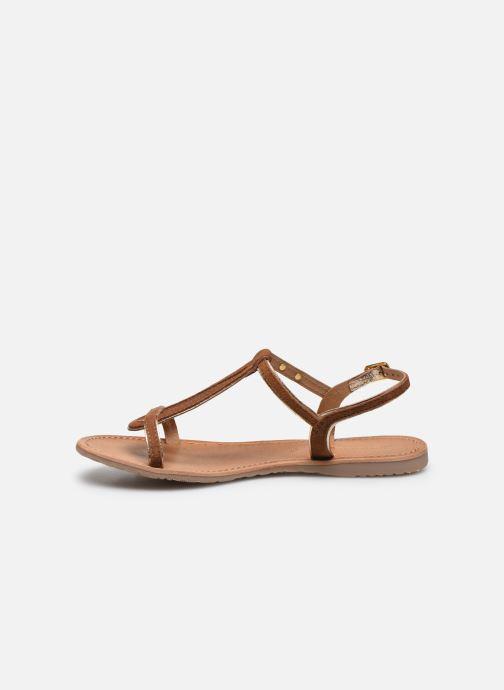 Sandales et nu-pieds Les Tropéziennes par M Belarbi HABUC Marron vue face