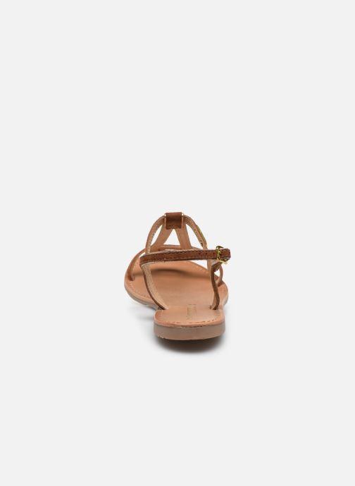 Sandales et nu-pieds Les Tropéziennes par M Belarbi HABUC Marron vue droite