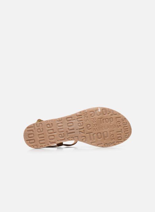 Sandales et nu-pieds Les Tropéziennes par M Belarbi HABUC Marron vue haut