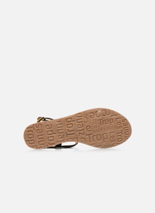 Sandales et nu-pieds Les Tropéziennes par M Belarbi HABUC Noir vue haut